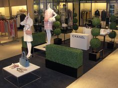 Chanel Display in Neiman Marcus- Custom Artificial Hedges for Special Projects, Indoor or Outdoor by Planters Unlimited