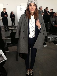 Alexa Chung. I want this jacket!