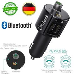 Ebay Angebote MP3 KFZ Bluetooth FM Transmitter Auto Bluetooth Radio MP3 Player 2 USB Adapter LED: EUR 11,99 Angebotsende:…%#Quickberater%