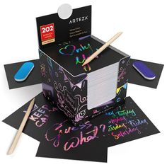 School Supplies, Art Supplies, Scratch Art, Star Background, Note Paper, Holographic, Arts And Crafts, Stationery, Diy Projects