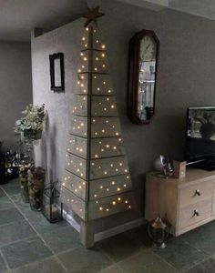 No room for a tree? They this beautiful alternative, Made with pallets and Christmas lights! You can leave the wood natural, paint it, use Mod Podge to add decorative paper or fabric accents. The sky's the limit!