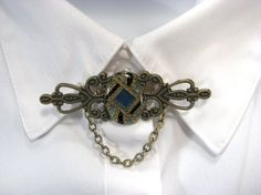 Filigree Brooch Lapel Pin Upcycled Vintage Jewelry parts Chain