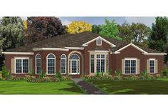Traditional Plan: 3,372 Square Feet, 5 Bedrooms, 3.5 Bathrooms - 1070-00120