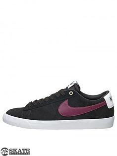 8c44be36bb167 Nike SB Blazer Low GT Shoes Black Villian Red