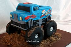 In this cake decorating video, you will learn create an awesome Monster Truck Cake! My Cake School video section. Types Of Birthday Cakes, Twin Birthday Cakes, Truck Birthday Cakes, Truck Cakes, Car Cakes, 4th Birthday, Birthday Ideas, Birthday Parties, Monster Truck Birthday