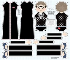 Ruth  Bader Ginsburg cut and sew doll perfect accent ,decor for a girls room, the family room, or any room where you want justice‼️