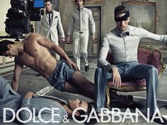 Dolce & Gabbana ad for menswear
