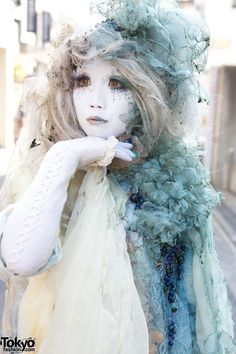 "shironuri | Japanese Shironuri ""White Face Monster Party"" in Harajuku – Pics ..."