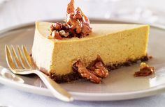 Pumpkin cheesecake with gingersnap-walnut crust recipe | Nourish magazine Australia