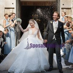 As her last name suggests, Victoria Swarovski is heiress to the Swarovski fortune. Naturally, her Michael Cinco gown was decorated with Swarovski Most Expensive Wedding Dress, Extravagant Wedding Dresses, Wedding Dress Prices, Celebrity Wedding Dresses, Wedding Dresses Photos, Modest Wedding Dresses, Lace Wedding Dress, Designer Wedding Dresses, Celebrity Weddings