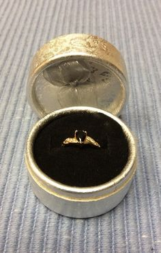 Beautiful Dainty Women's 18k Yellow Gold Black Onyx Ring Size 8 Valentine Gift #Unbranded #SolitairewithAccents