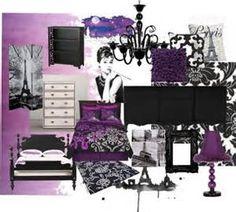Teen Purple Paris Bedroom | Reisha