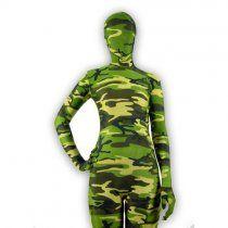 Camouflage Fullbody Back Zipper Lycra Zentai Suit