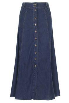 Button Through Denim Skirt (06F11) LTS 04/22/12, 06/24/12