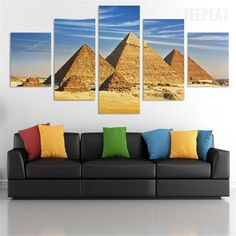 Ancient Egypt Mummy Coffin Tomb 5 Pieces Canvas Wall Art Poster Print Home Decor