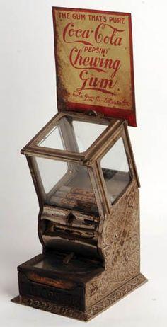 C.1903 COCA-COLA CHEWING GUM MACHINE :
