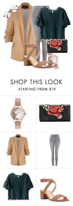 """simple but pretty"" by ashley-ploog on Polyvore featuring Olivia Burton, River Island, Topshop and Nine West"