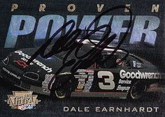 #AUTOGRAPHED 1996 Dale #Earnhardt Sr #3 GM Goodwrench Fleer Proven Power #NASCAR Card
