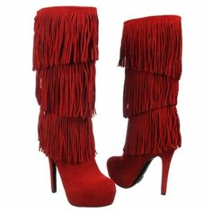 Women's Mojo Moxy Burlesque Red Suede Shoes.com