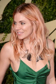 I LOVE THIS - even though I'm probably too old to get it myself. Sienna Miller's Rose-Gold Hair Is Fairy-Fabulous