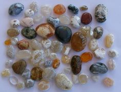 polished beach agates from Yachats, OR , by Astoria Oregon Rust