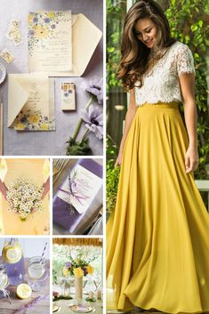 Yellow & Lavender Wedding Inspiration from Burgh Brides Mustard Yellow Wedding, Yellow Wedding Dress, Purple Wedding, Mustard Wedding Theme, Gold Wedding, Wedding Themes, Wedding Gowns, Wedding Day, Wedding Cakes