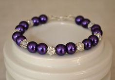 Cadbury Purple Pearl and Rhinestone by EmbellishMeBeautiful