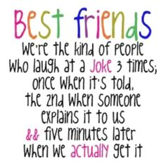 Lol this is what happens with me and my besties