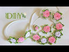 """Набор """"Belle"""" для малышки   Цветы из Лент   KANZASHI   DIY"""
