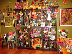 Dia de LosMuertos room at Treasures of the Gypsy- Pamela Armas Space Crafts, Day Of The Dead, Fiber Art, Doll Clothes, Gypsy, Spaces, Couture, Dolls, Pretty
