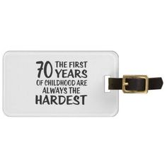 #70 The First  Years Birthday Designs Luggage Tag - #birthday #gifts #giftideas #present #party