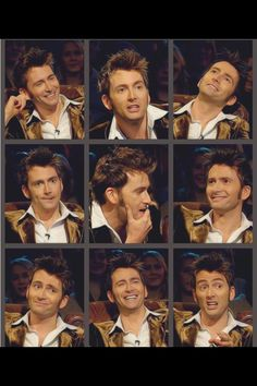 David Tennant on Top Gear. His face is just beyond wonderful