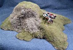 Reaper Miniatures :: TheCraft; casting foam terrain using sand