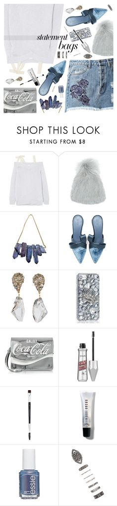 """enjoy"" by ladysnape ❤ liked on Polyvore featuring RED Valentino, Yves Salomon, Hidden, Mercedes Castillo, Alexis Bittar, Pinko, Bobbi Brown Cosmetics, Essie, Forever 21 and statementbags"