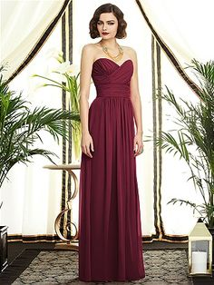 Dessy Collection Style 2896: The Dessy Group; loving this wine/maroon color maybe for the Maid of Honor.