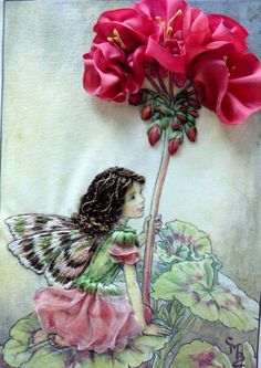Ribbon Embroidered Flower Fairy.