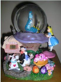 Disney Alice in Wonderland snowglobe