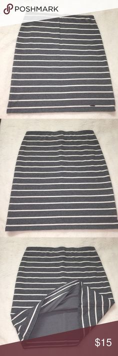 Hollister grey striped mini skirt Great condition, worn only once! Hollister Skirts Mini