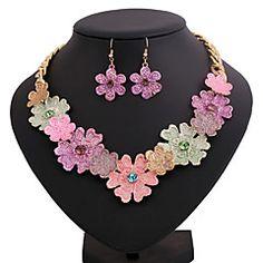 collar de la aleación de impresión color de la flor de la mo... – MXN $ 280.31