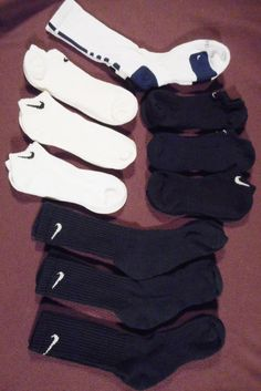 Nike Men's Athletic Socks Mixed Lot of 10 NWOT #Nike #Athletic