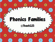FREE  Phonics Families