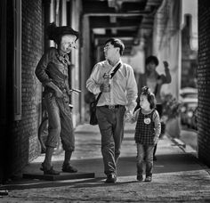 A father and daughter take in the sights of a #bohemian area of #Beijing. from #treyratcliff at http://www.StuckInCustoms.com - all images Creative Commons Noncommercial