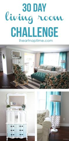 amazing living room transformation done on a budget!