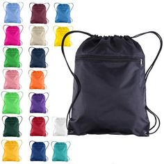 5b59af545bcc Shop wholesale drawstring bags in a variety of colors. Send BagzDepot.com a  logo