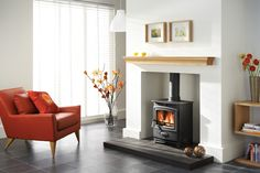 Ecoburn multi fuel stove - The highly efficient Ecoburn stoves gives you more control over how you burn your fuel, yet remains easy to use. It allows you to generate more heat using less fuel, thus contributing to a cleaner environment. Its gently curved steel body, large fire viewing glass and concealed hinges make it a stunning feature in any room.
