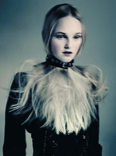 Jean Campbell wears Marc Jacobs, photographed by Paolo Roversi for Vogue Italia