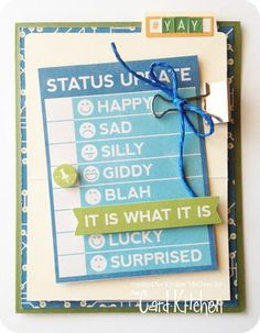 It Is What It Is Card designed by Kimber McGray for Card Kitchen Kit Club using April 2014 Card Kitchen Kit