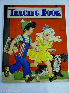 Vintage Tracing Coloring Book - 1944 Whitman - Illustrated by Eileen Fox Vaughan