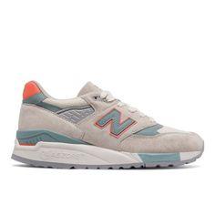 998 New Balance Women's Running Classics Shoes - Off White/Blue (W998CHS)
