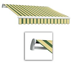 AWNTECH 18 ft. LX-Maui Manual Retractable Acrylic Awning (120 in. Projection) in Forest/Tan Multi, Green